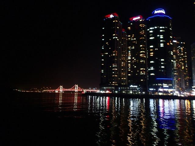 Vakker utsikt på nattestid